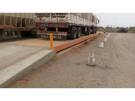 Báscula Full Electrónica 60 Tt Para Pesaje De Camiones