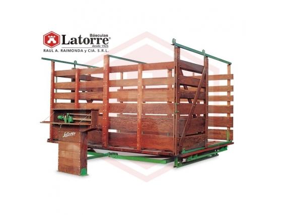Báscula para hacienda de 8000 Kg Básculas Latorre
