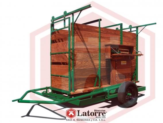 Báscula para Hacienda Móvil 1500kg Latorre