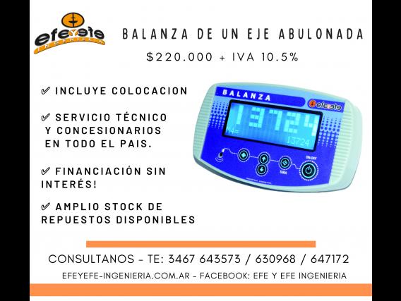 Balanza Monotolva De Un Eje Abulonada C/ Instalacion