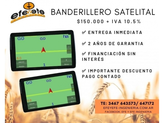 """Banderillero Satelital Efe Y Efe 7"""" Instalado/ Viaticos"""