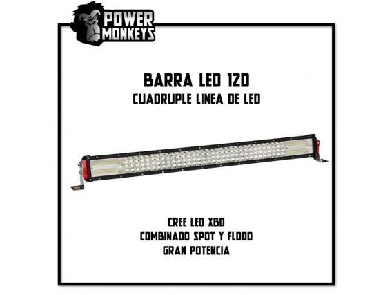 Barra Led Cuádruple Linea 12D -Rectas Y Curvas-