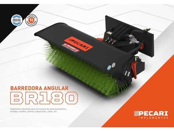 Barredora Angular Pecarí Br 180 Para Minicargadora