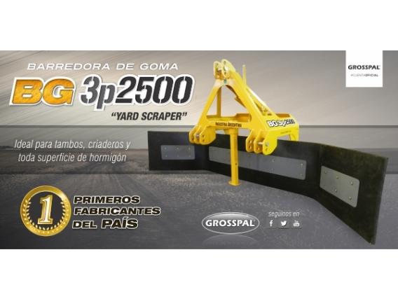 Barredora De Goma Grosspal Bg3P 2500