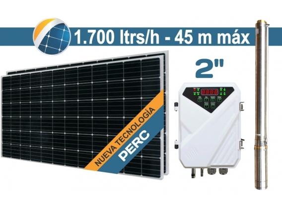 "Bomba De Agua Solar Sumergible SEIF Energy 2"" Centrifuga 1700L 45M Paneles 2x380W"