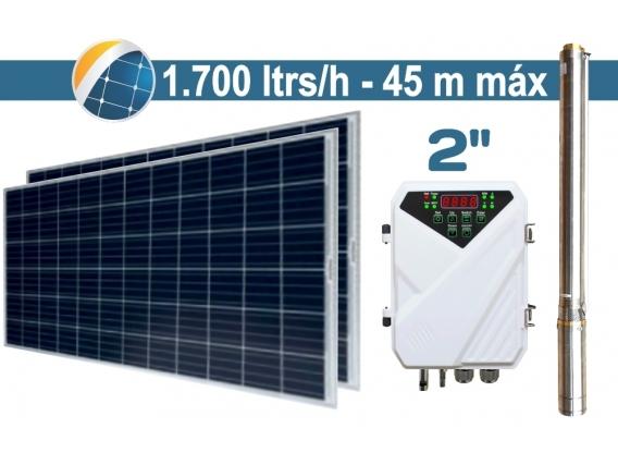 "Bomba De Agua Solar Sumergible SEIF Energy 2"" Centrifuga 1700L 45M Paneles 2x285W"