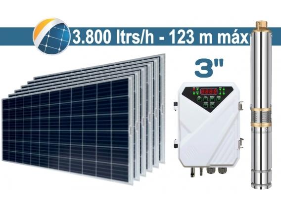 "Bomba De Agua Solar Sumergible SEIF Energy 3"" Centrifuga 3800L 123M Paneles 6x285W"