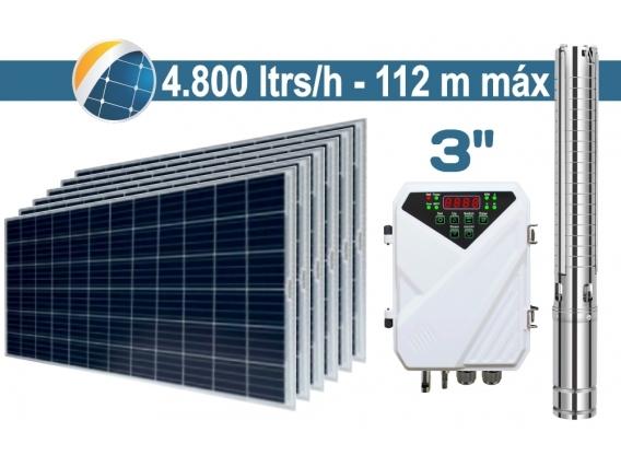 "Bomba De Agua Solar Sumergible SEIF Energy 3"" Centrifuga 4800L 112M Paneles 6x285W"