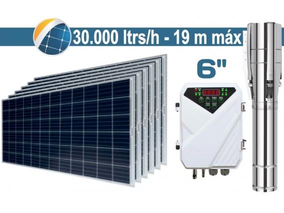 "Bomba De Agua Solar Sumergible SEIF Energy 6"" Centrifuga 30000L 19M Paneles 6x285W"