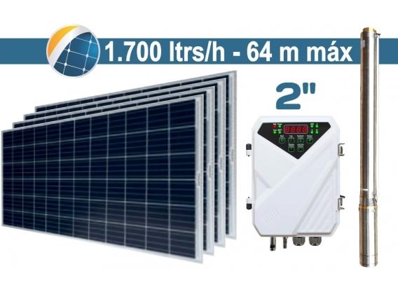 "Bomba De Agua Solar Sumergible SEIF Energy 2"" Centrifuga 1700L 64M Paneles 4x270W"