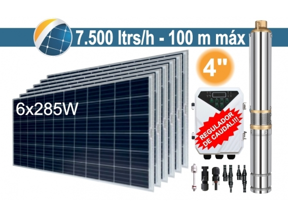 Bomba Sumergible Solar Tornillo Seif Energy 4DLR7.5-100-72-1100 - 6x285W