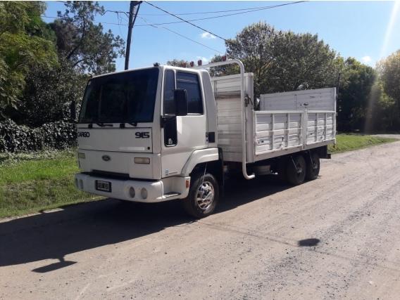 Camión Ford Cargo 915 Con Chasis Tres Ejes Baranda Volcable