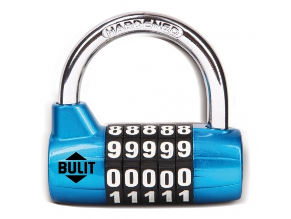 Candado De Aleación BULIT 100.000 Combinaciones 65mm - Azul