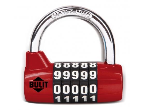 Candado De Aleación BULIT 100.000 Combinaciones 65mm - Rojo