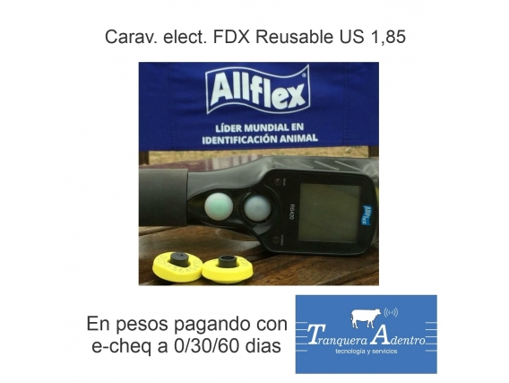 Caravanas Electronicas Fdx Reusables Allflex Usd 1,85