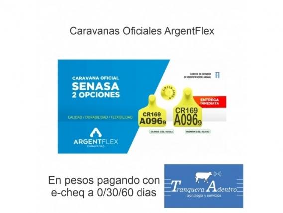 Caravanas Oficiales Senasa Argentflex