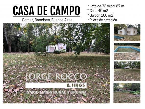 Casa De Campo En Gomez - Brandsen, Bs. As. -