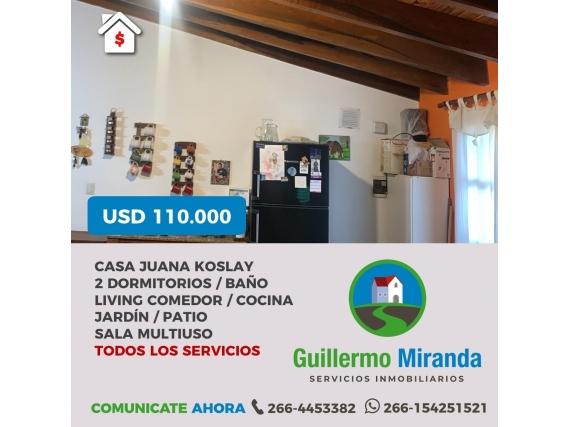 Casa En Juana Koslay