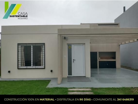 Casa Sustentable. Construcción Modelo De 2 Dormitorios Casa Sustentable
