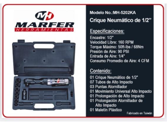 """Crique Neumático MH 1/2"""" En Kit Mh-5202Ka"""
