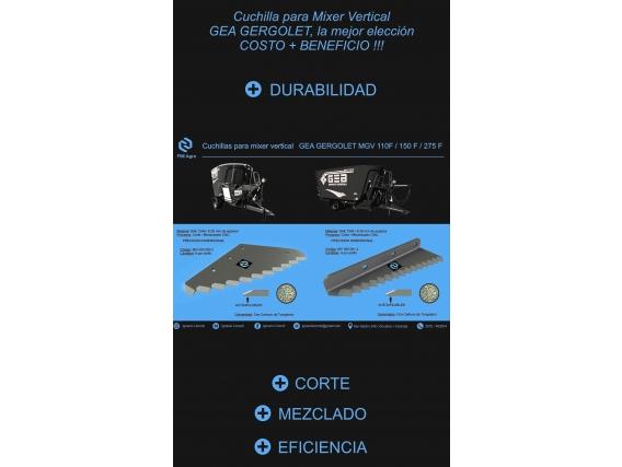 Cuchillas Fim Agro Para Mixer Vertical Gea Gergolet