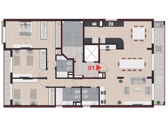 Departamento 3 Dorm6 Piso Exclusivo Pte. Roca 1170.