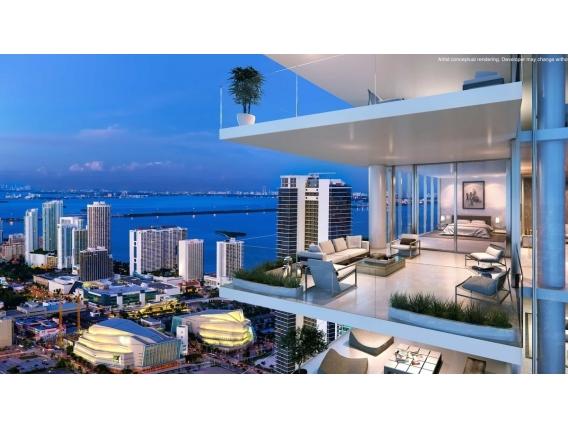 Depto 3 Dormitorios Paramount - Miami World Center