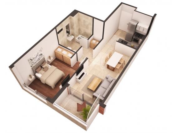 Depto En Venta 1 Dormitorio 40 M2 - Jujuy 1751