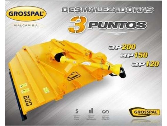 Desmalezadora Grosspal 3P Vg 120 3 Puntos