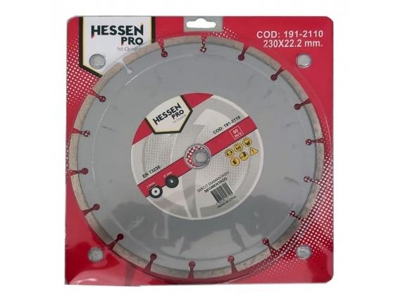 Disco Corte Diamantado Amoladora Hessen 230X22.2 Segmentado