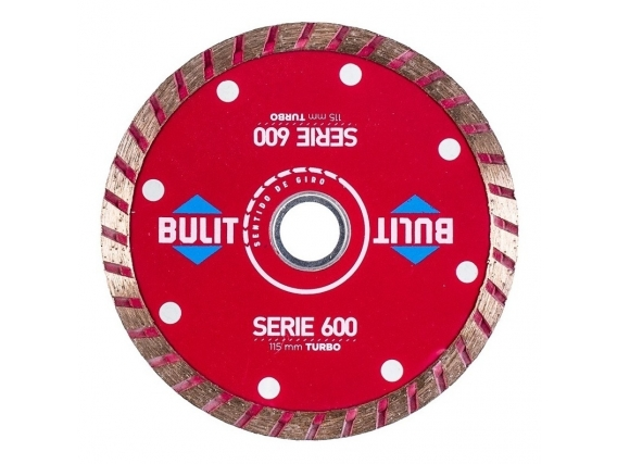 Disco Diamantado Bulit Para Amoladora Serie 600 Turbo 115Mm