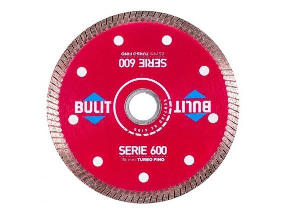Disco Diamantado Bulit Para Amoladora S600 Turbo Fino - 115mm