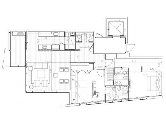 Dpto De 2 Dorm - En Alq - 124 M2 - Torre Art María Este