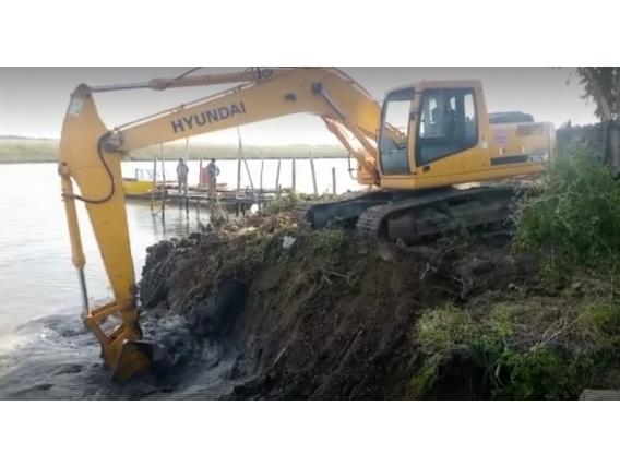 Excavadora Hyundai 210.
