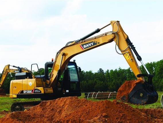 Excavadora Sy135C, Desde