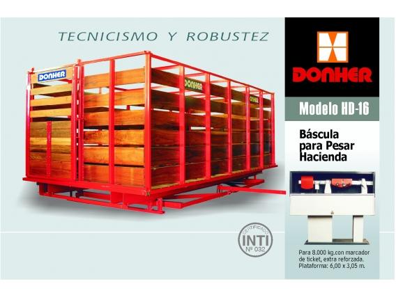 Balanza  Donher HD-16 para pesar hacienda