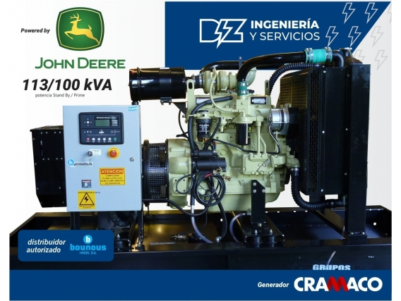 Grupo Electrógeno John Deere 100 Kva Cramaco