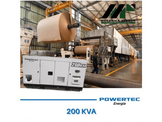 Grupo Generador Powertec 200 Kva - Con Motor Cummins