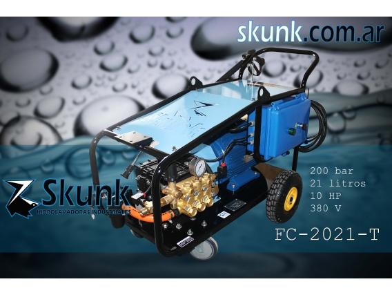 Hidrolavadora Industrial Trifásica 200Bar 10Hp - Skunk