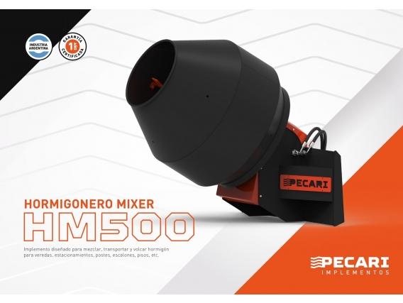 Hormigonero Mixer Pecarí Hm 500 Para Minicargadora