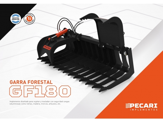 Garra Forestal Pecari Gf 180 Para Minicargadora