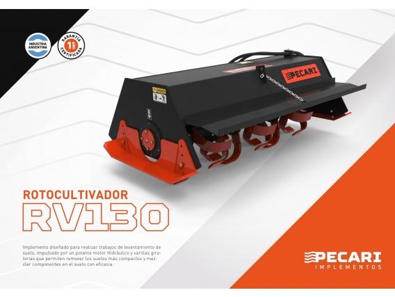 Rotocultivador Pecari Rv 130/180 Para Minicargadora