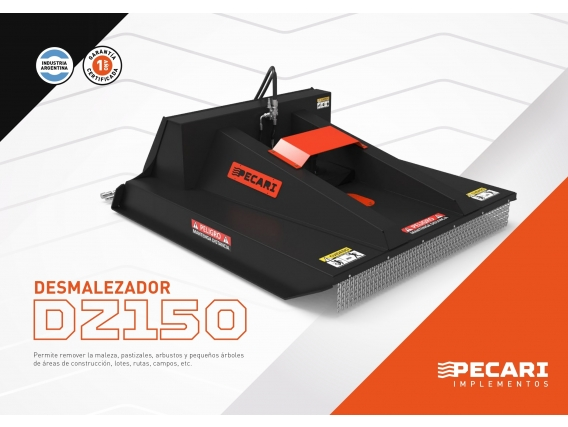 Desmalezadora Pecarí Dz 150 Para Minicargadora
