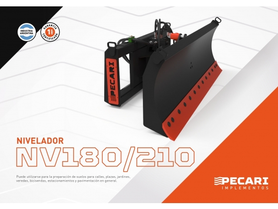 Nivelador Pecari Nv 180/210 Para Minicargadora