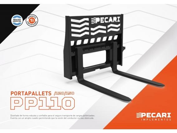 Portapallet Pecari Pp 110/120 Para Minicargadora