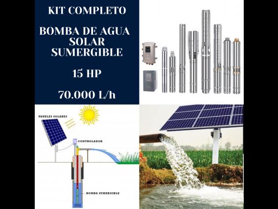 Kit Bomba De Agua Solar Handuro 15 HP 70.000 Litros/hora