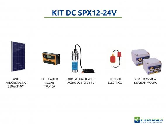 Kit Bomba Sum Solar E-Cológica Hasta 30 Mts - 12Lts/min