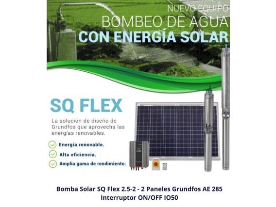 Kit Bombeo Solar Sqflex 2.5-2 Con Paneles E Io50 -Promo