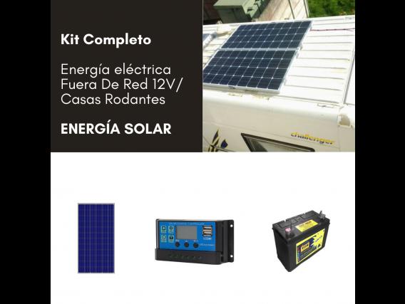 Kit Completo Energía Fuera De Red Amerisolar 12V/ - Casas Rodantes