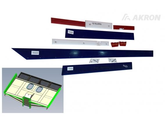 Kit Elastómeros Pantalla Carro CC 3840 / CC 3945
